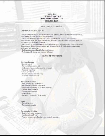 accountant clerk resume exles sles free edit with word