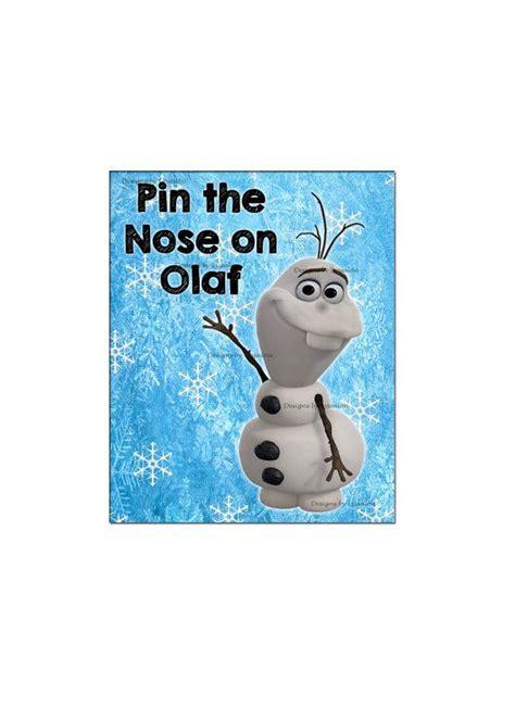 olaf printable birthday disney frozen printable birthday game pin the nose on