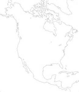 outline maps of united states and canada