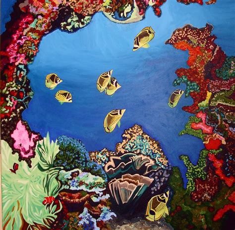 coral reef painting tropical art pinterest coral