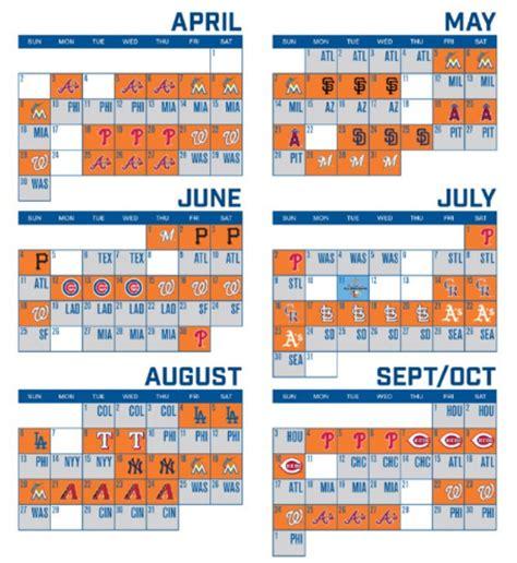 mets schedule 2016 printable calendar template 2016 mets release 2017 regular season schedule mets merized