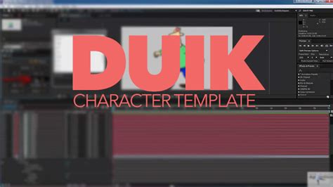 Create A Template To Easily Swap Duik Rigged Characters In Ae Lesterbanks After Effects Character Rig Template