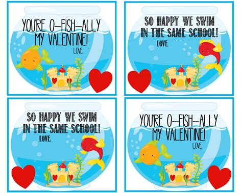 valentines day fish printable you re o fish ally my