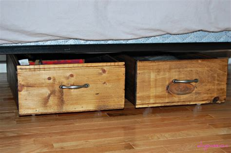 diy under bed drawers remodelaholic build your own rolling under bed storage crates