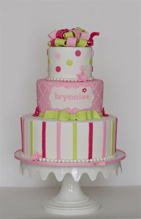 Baby Shower Pink And Green by The Gallery For Gt Pink And Green Baby Shower Cake