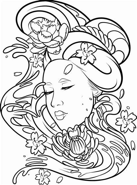 coloring book drawings geisha tat transparent background by dawnieda on deviantart