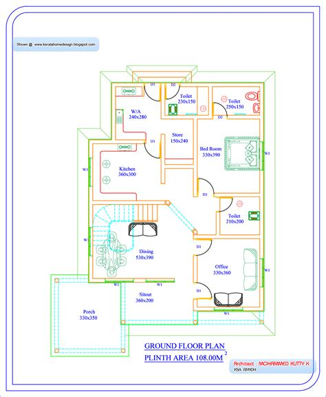 kerala house plans and elevations 1200 sq ft july 2010 kerala home design and floor plans