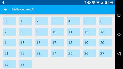 grid layout size auto fit according to screen size in grid layout android