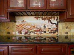 tuscan vineyard wine tiles for kitchen backsplashes