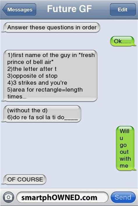 Or Questions Through Text Future Gfanswer These Questions In Order Ok 1 Name Of The In Fresh Prince