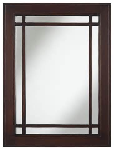 craftsman style bathroom mirrors arts and crafts mission mission espresso 26 quot x 34