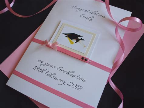 Handmade Graduation Cards - handmade luxury graduation card handmade cards pink posh