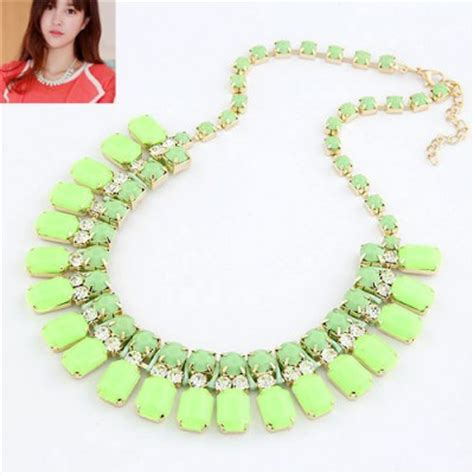 Aksesoris Kalung Wanita Kalung Cantik Murah 2 kalung manik manik hijau model cantik murah