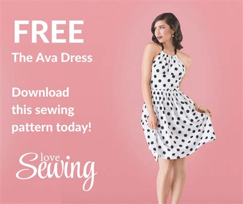 pattern download sewing 187 free ava dress