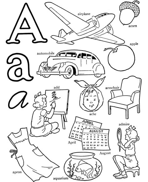 color word coloring pages az coloring pages