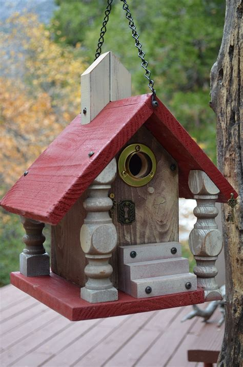 Handmade Bird Houses - decorative handmade birdhouse functional for cavity nesting