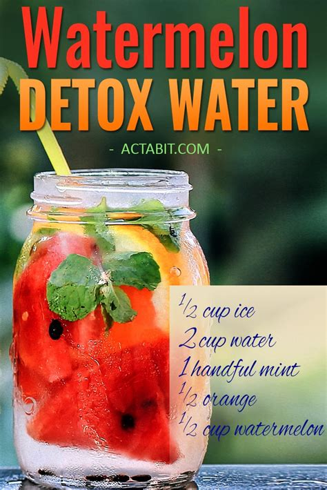 Watermelon Detox Recipe by 6 Detox Water Recipes For Weight Loss And Clear Skin