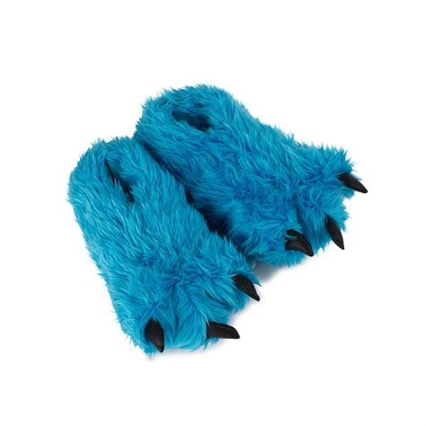 paw slippers paws slippers with claws blue for adults and children buy