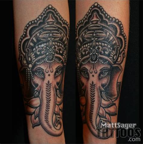 best tattoo artist in denver ganesh elephant by matt sager denver colorado