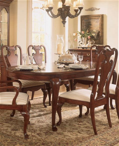 American Drew Dining Room Table by Cherry Grove Oval Leg Table Dining Room Set By American