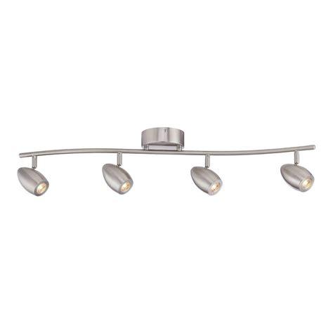 brushed nickel track lighting kits envirolite 3 ft brushed nickel led track lighting kit