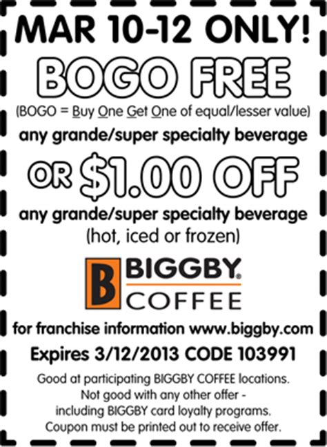 Biggby Coffee Coupons   2017   2018 Best Cars Reviews