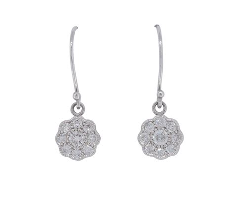 white gold set drop earrings archer