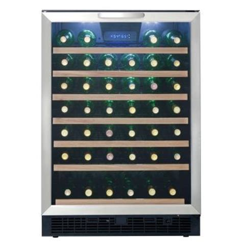 danby 50 bottle built in wine cooler dwc508bls the home