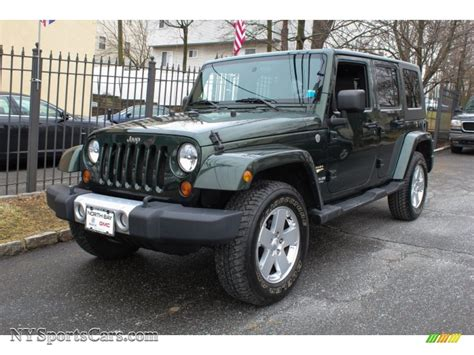 dark green jeep wrangler 2010 jeep wrangler unlimited sahara 4x4 in natural green