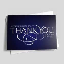 thank you for your business cards business thank you scroll thank you cards from cardsdirect