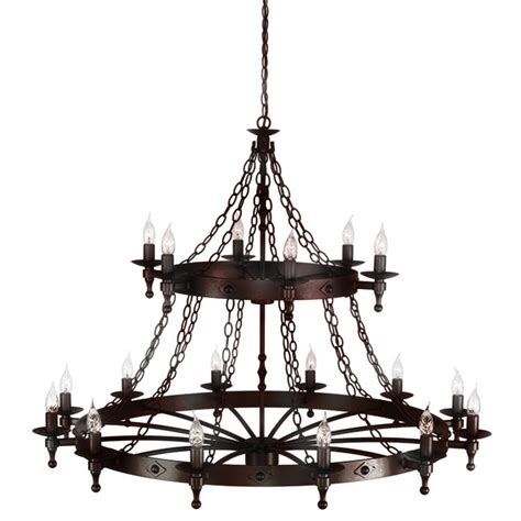 Light Iron by Elstead Lighting Warwick 18 Light Iron Chandelier At