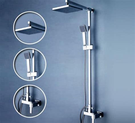 bathroom shower sets beelee wall mounted bathroom rain shower set brass shower