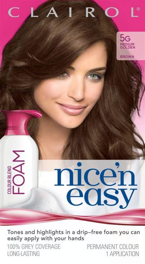 foam hair color clairol nice n easy your source for clairol nice n easy 5g hair color blend med golden brown
