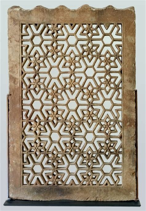geometric jali pattern sandstone jali screen india 19c jali screens