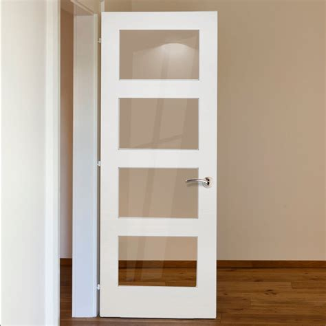 shaker glass doors deanta coventry white primed shaker door with clear glass