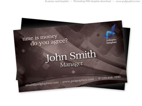 stylish business card template psd psdgraphics