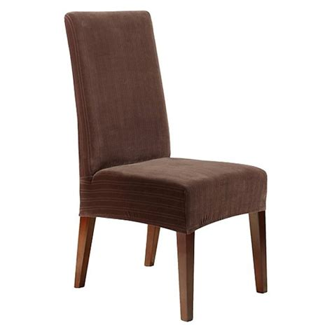 dining room chair covers target stretch pinstripe short dining room chair cover chocolate