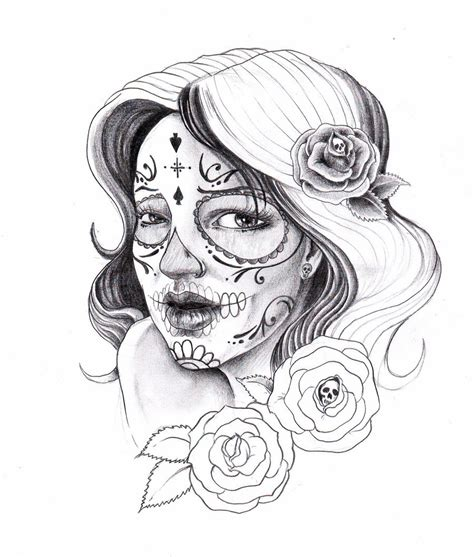 sugar skull lady tattoo designs 1000 images about sugar skulls on sugar skull