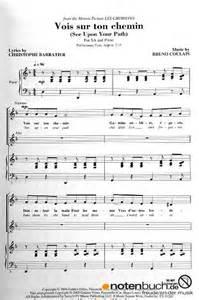 noten vois sur ton chemin les choristes musiknoten
