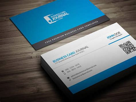 blue corporate business card template with qr code 61 corporate business card templates free premium