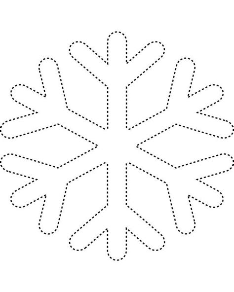 printable snowflakes templates cut out snowflake template craft night pinterest snowflake