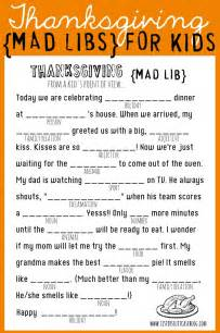 printable thanksgiving games thanksgiving mad libs printable my sister s suitcase