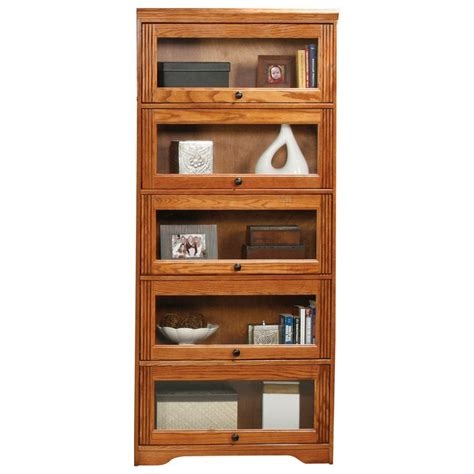 oak ridge 5 door lawyer bookcase glass doors fluting