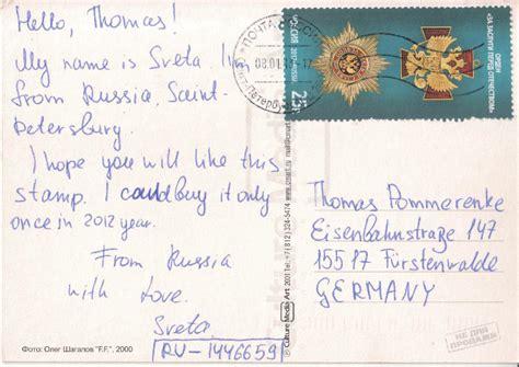 Postkarten Schreiben Muster Philaseiten De Postcrossing