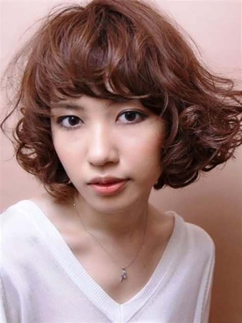 curly hairstyles asian japanese wavy hairstyle behairstyles com