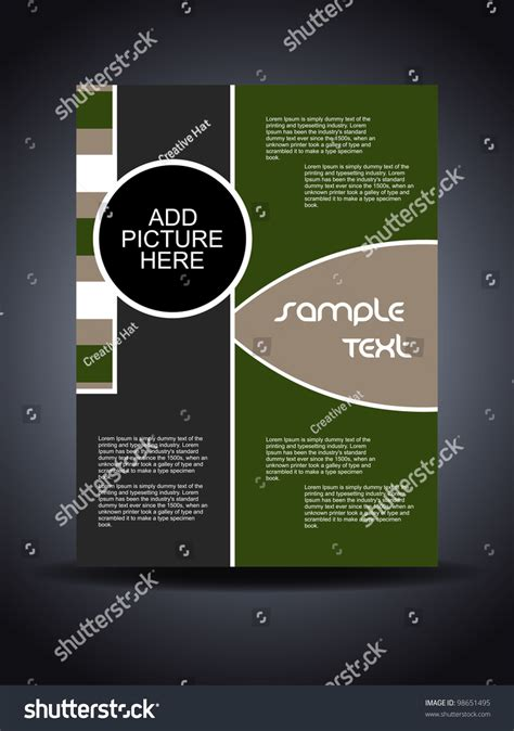 creative flyer design vector presentation creative flyer cover design vector stock