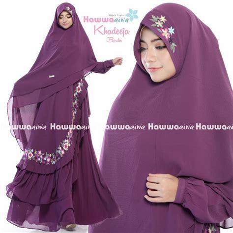 Khadeeja Syari Gamis Ay 1 gamis cantik pusat gamis muslim khadeeja embrioderry vol 2 by hawwa aiwa best seller