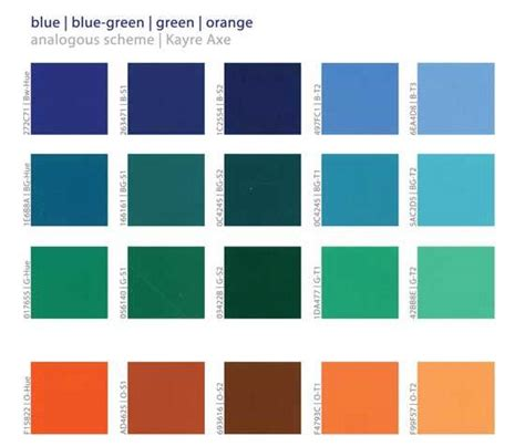 green color schemes analogous color schemes in color