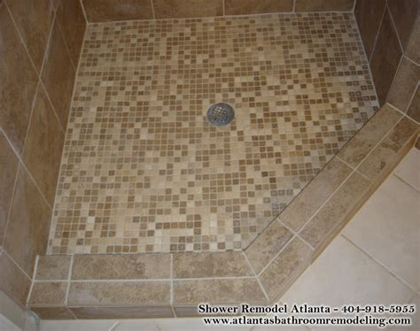 Remodeling A Bathroom Ideas by Shower Floor Tiles Ideas Images Photos