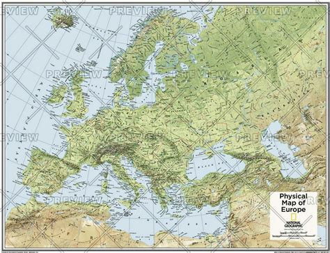 europe atlas map europe physical atlas of the world 10th edition by